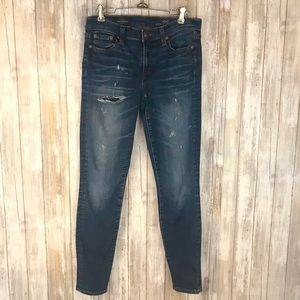 J. Crew Distressed Toothpick Jeans Sz. 28